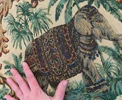 Elephant jungle woven tapestry upholstery fabric 55 x 47