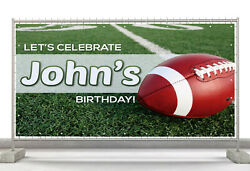 Football Custom Happy Birthday Banner Personalized Poster M467