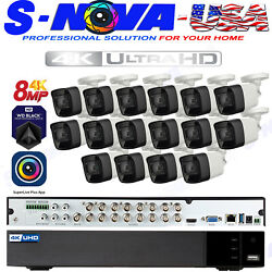 Cctv 8 Megapixel Security System Kit 16ch 4k Dvr 8mp Mini Dome By Tvt Pro