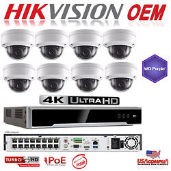Hikvision Nvr Security System 4k-uhd 16ch Kit Weather Proof / 2 Axis Oem