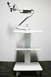 Dental Operating Eye Surgery 5w Led Surgical Microscope With Trolley Cart Unit
