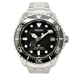 Free Shipping Pre-owned Grand Seiko Spring Drive Divers Sbga029 Black Dial