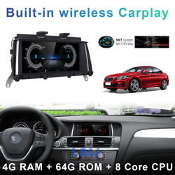 Android 10 Car Gps Video Wifi Auto 8-core + Carplay For Bmw X3 F25 F26 2014-2016