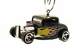 1932 Ford Roadster Christmas Ornament 164 Black Flames