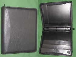 Classic 1.25 Black Fine Leather Day Runner Planner Binder Franklin Covey 9518