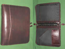 Desk 1.5 Red Leather Day Timer Planner Binder Classic Franklin Covey 8206