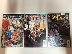 Superman Tarzan Sons Of The Jungle 2001 1 2 3 Vf/nm Complete Set Elseworlds
