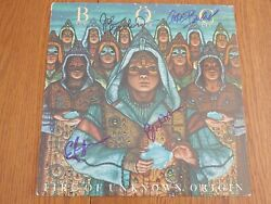 Blue Oyster Cult Signedx4 Fire Of Unknown Origin Lp Eric Bloom Buck Dharma Rare