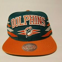 Nfl Miami Dolphins Snapback Hat Mitchell And Ness Vintage New W/ Stickers Rare