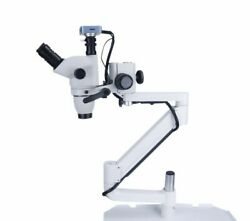 5w Led Ent Surgical Dental Microscope 10x With Camera Clip On Dental Chair Unit