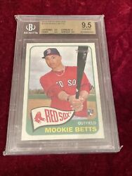 2014 Topps Heritage H558 Mookie Betts Rc Rookie Bgs 9.5 Gem Mint