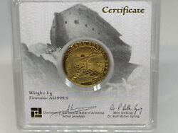 2020 1 Gram Proof Gold Armenia Noahand039s Ark Geiger Coin 1st Year Of Issue Y1