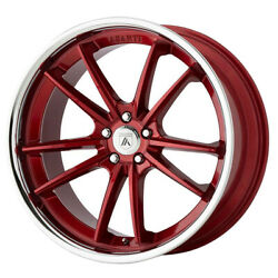 Asanti Abl-23 Delta 20x10.5 5x115 Offset 20 Candy Red With Chrome Lip Qty Of 4