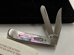 Case Black Mother Of Pearl Tiny Trapper 2004 82154 Item 03785