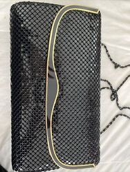 """Black Clutch Evening Bag With Magnetic Closure 10"""" X 6 """" $10.50"""