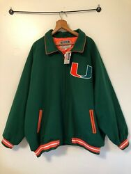 New W/tag Mitchell And Ness Miami Hurricanes Wool Jacket-size 5xl64-new-rare