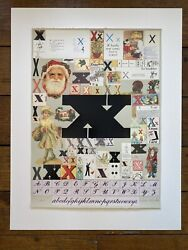 Peter Blake The Alphabet Series X Screen Print Limited Edition Signed