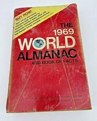 The 1969 World Almanac And Book Of Facts Vintage Paperback Book