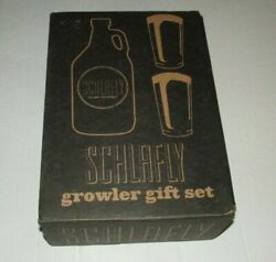 Schlafly Brewing Half Gallon Growler And Pint Glass Gift Set St Louis Bar Pub