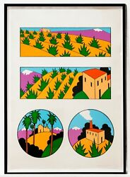 Kenneth Price Four Images Of New Mexico 1977. Framed Signed Numbered Print