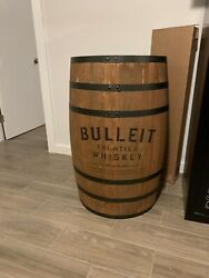Bulleit Frontier Whiskey Full Size Display Barrel Bourbon Man Cave Whisky New