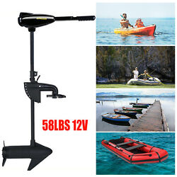 Electric Trolling Motor Outboard 58 Lbs Trust 12 Volts Transom Mount F5-r2 12v S