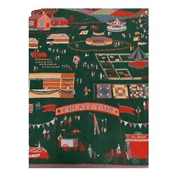 Vintage Ll Bean County Fair Woven Tapestry Throw Cotton Blanket
