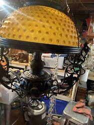 Rare Antique Bradley And Hubbard Cast Iron Dragon Oil Lamp Electrified