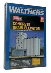 Walthers 933-3022 Ho Scale Adm Concrete Grain Elevator Kit - Assembly Required