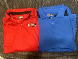 Lot Of 2 - Callaway Mens Golf Polo Shirts - Large . Excellent