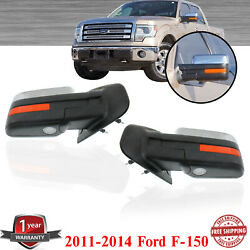 Right And Left Side Mirror Heated Power Folding Chrome For 2011-2014 Ford F-150
