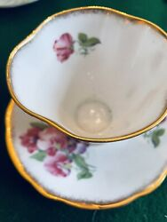 Clarence English Bone China Tea Cup And Saucer Numbered