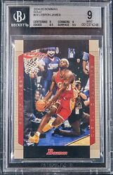 2004-05 Lebron James Topps Bowman Gold 23 Bgs 9 W/ 2 9.5 Subs .5 From Gem Mint