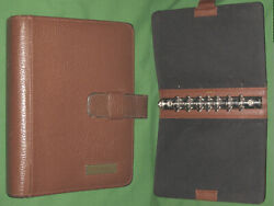 Desk 1.25 Brown Leather Day Timer Planner Binder Classic Franklin Covey 294