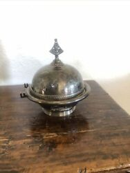 Rogers Smith And Co Plate Silver Plated Butter Dome 4966