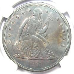 1860-o Seated Liberty Silver Dollar 1 - Ngc Uncirculated Detail Unc Ms - Rare