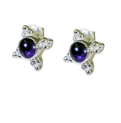 Adorable Amethyst 925 Sterling Silver Purple Earring Natural India Us Gift