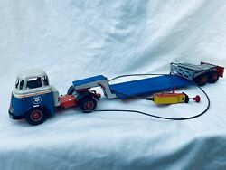 Arnold Daf Low Loader 9200 Battery Mit Lenkung Blech Auto / Tin Toy Truck Rare