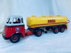 Arnold Daf Shell X-100 Motor Oil Mit Lenkung Blech Auto / Tin Toy Truck Rare