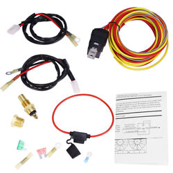 Electric Cooling Fan Wiring Thermostat Harness Kit 165/185 Dual 40 Amp 3/8 Npt