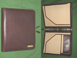 Folio 1.0 Brown Leather Day Timer Planner 8.5x11 Monarch Franklin Covey 320
