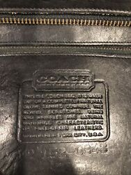 Vintage COACH Made In NYC Black Leather Crossbody Early Coach Bag creed $45.00