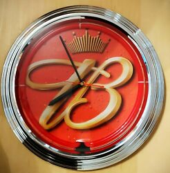 Vintage Budweiser Battery-powered Clock With Red Ring Light