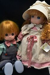 Vintage Ozark Annie Andy Precious Moments Extra Large Girl And Boy Doll Pair 26