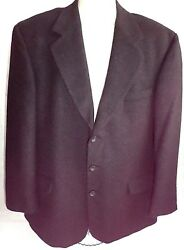 Gianfranco Ruffini Sportcoat Cashmere Blend Mens Size 44r Black 3 Button Lined