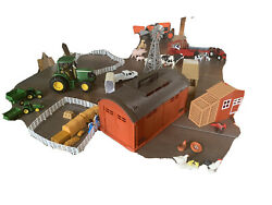 Huge Lot Of Farm Toys Tractors Trailers Dairy Chicken Coop Horses