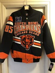 Chicago Bears Medium Jacket Coat Super Bowl Xx Champions New Heavy Weightquilted