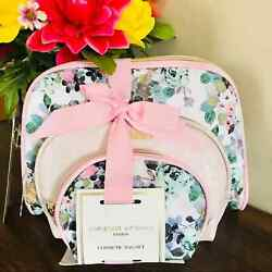 Adrienne Vittadini Set 3 Dome Shaped Cosmetic Floral $20.00