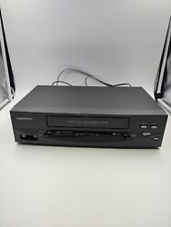 Daewoo Dv-t5dn Vcr Hi-fi 4 Head Vhs Player - No Remote - Tested - Works Great.