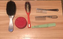 Vintage Brushes And Combs Hess Spornette Taperette Twin Co Brands Pet Grooming